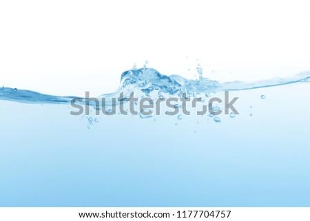 Water splash,water splash isolated on white background,water #1177704757