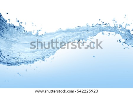 Water splash,water splash isolated on white background,water - Shutterstock ID 542225923