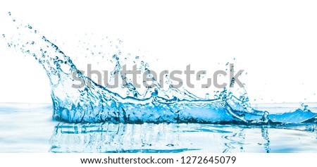 water splash with reflection #1272645079