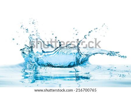 water splash with reflection - Shutterstock ID 216700765