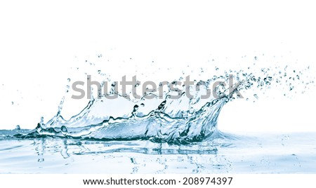 water splash with reflection, isolated - Shutterstock ID 208974397