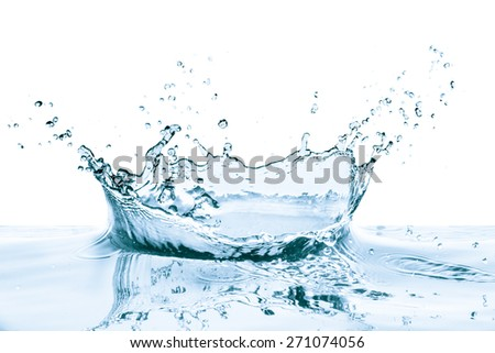 water splash with reflection, isolated - Shutterstock ID 271074056