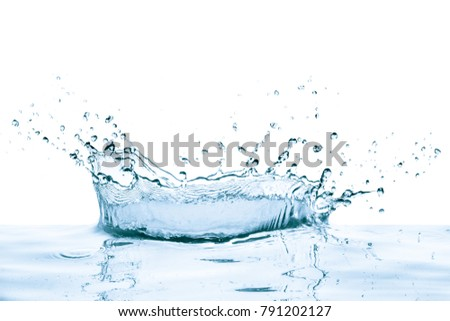 water splash with reflection, isolated - Shutterstock ID 791202127