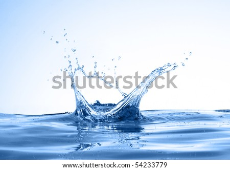 water splashes like crown. see more on my page