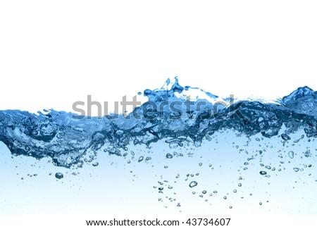 Water splashing background