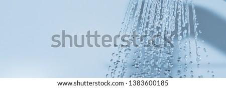 Water splashing in douche - clean body