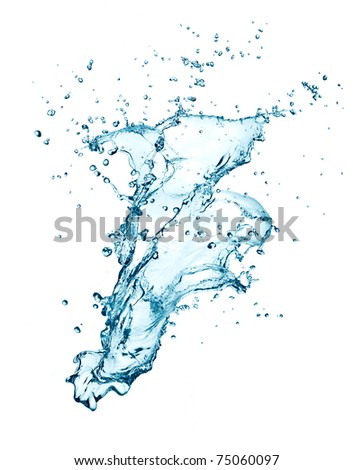 water splashing isolated on white background
