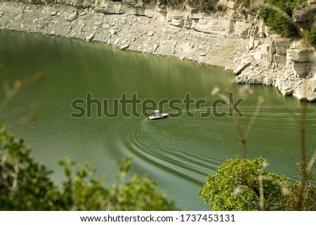 Water sports in Ter river meander. Masies de Roda, Catalonia Zdjęcia stock ©