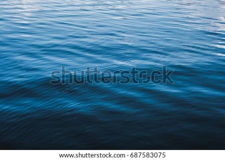 water surface closeup - waves on lake