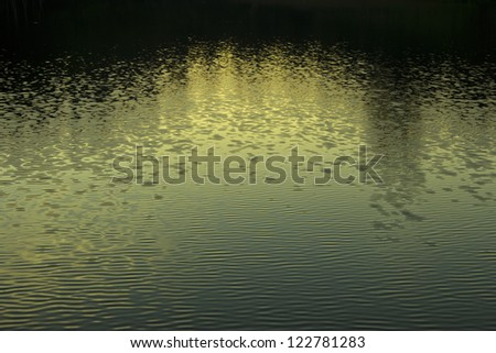 Water surface in calmness