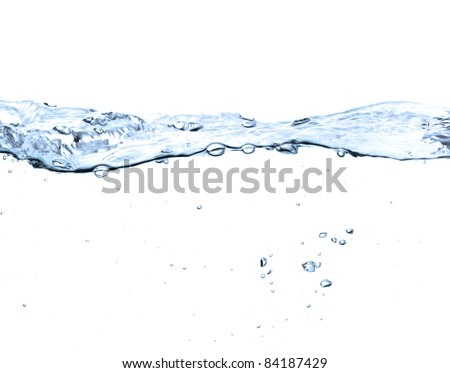 water surface isolated on white