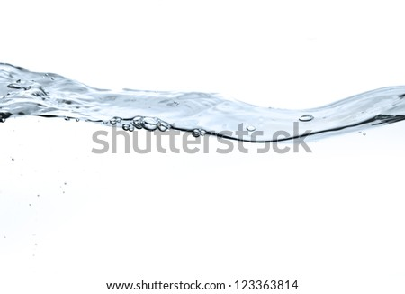 water surface isolated on white background