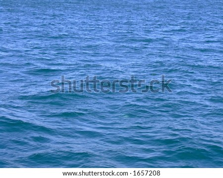 Water surface of a sea