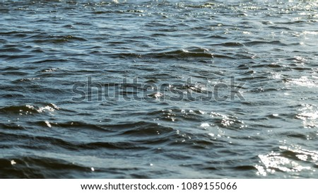 Water surface, Sea surface, Water background, Blue water surface #1089155066