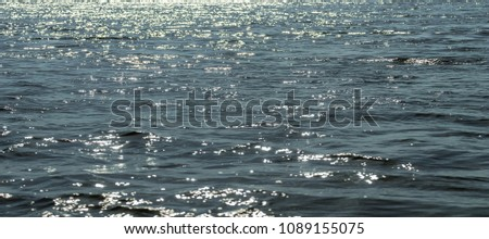 Water surface, Sea surface, Water background, Blue water surface #1089155075