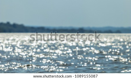 Water surface, Sea surface, Water background, Blue water surface #1089155087