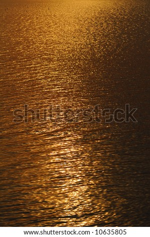 Water surface texture at sunset