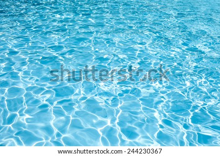 water swimming pool texture and surface water on pool