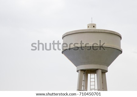 Water tank cement with white sky stock photo