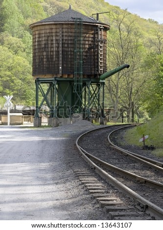 Water tank for steam engines in Cass West Virginia.