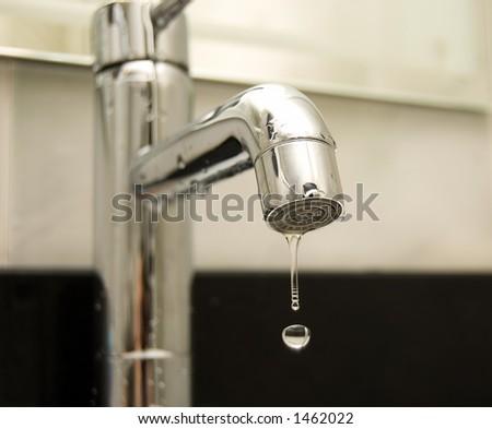 Water tap closeup