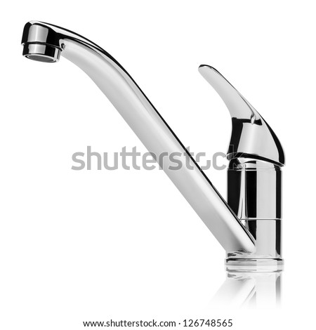 Water tap, isolated on the white background, clipping path included.