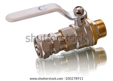 water tap isolated on white background