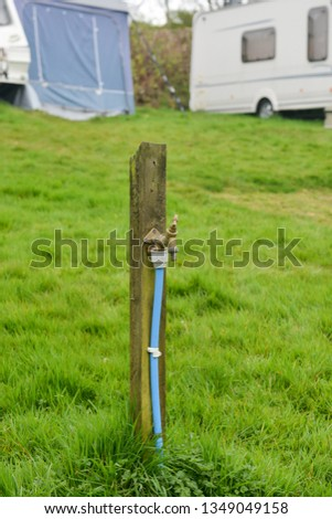 Water tap on a campsite in the UK  #1349049158