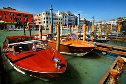 Water taxi in Venice, Italy, Europe