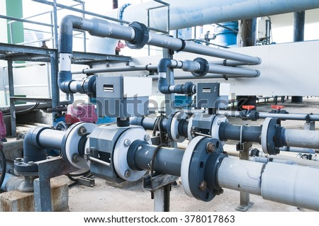 water treatment plant piping system