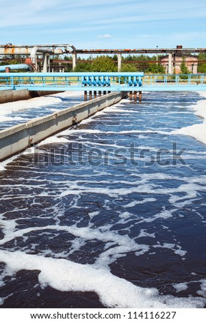 Water treatment tank with waste water