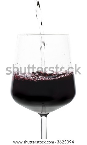 water turned to wine as it is poured to a glass