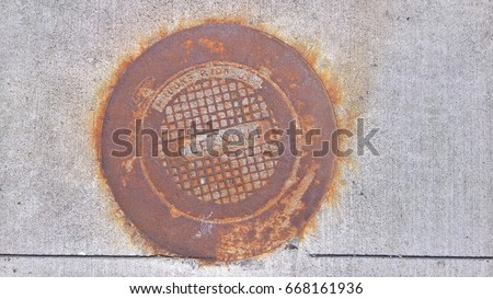 Water Valve Box Cover Plate Old