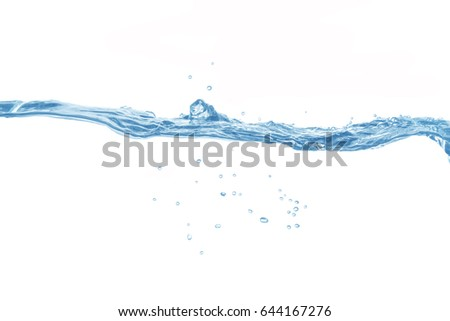 Water,Water splash and ripple isolated on white background. #644167276