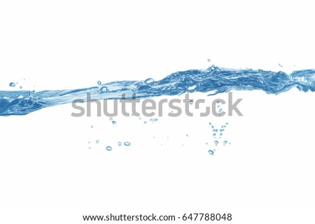 Water,Water splash and ripple isolated on white background.  #647788048