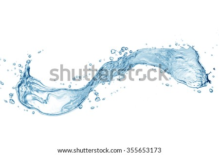 Water,water splash isolated on white background #355653173