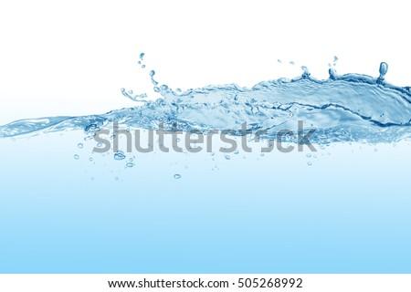 Water,water splash isolated on white background   - Shutterstock ID 505268992