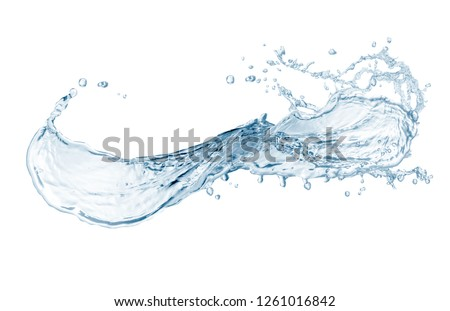 water, water splash isolated on white background, beautiful splashes a clean water