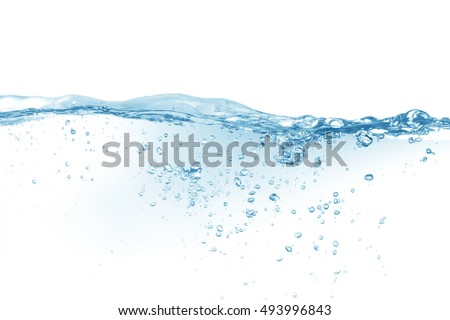 Water,water splash isolated on white background,Water splash with bubbles of air,