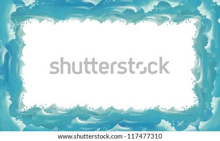 Water / wave frame - illustration for the children