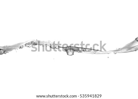 Water wave isolated on white background. #535941829