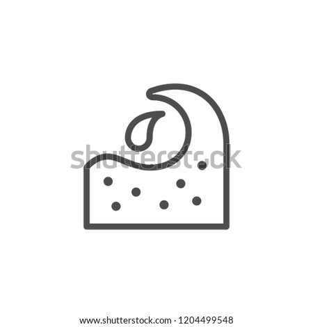 Water wave line icon isolated on white