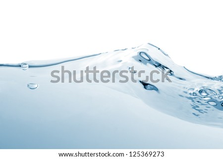 Water wave on white background