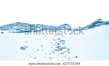 Water waves. Clear Water wave isolated on white background