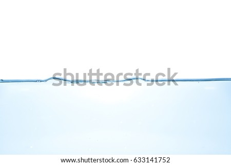 Water waves. Clear Water wave isolated on white background #633141752