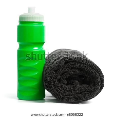 Waterbottle and towel