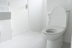 watercloset in bathroom