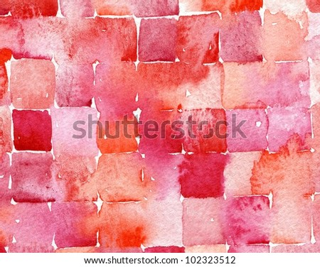 watercolor abstract squares painting suitable for use as a textured background