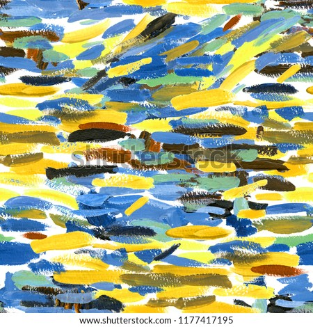 watercolor abstract striped seamless pattern. impressionist painting  background