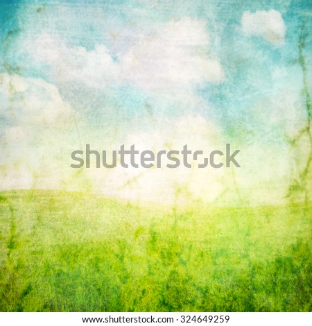 paper texture background with a clouds image overlay toned